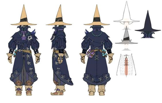 Black Mage (FFXIV) concept art for costume creation!