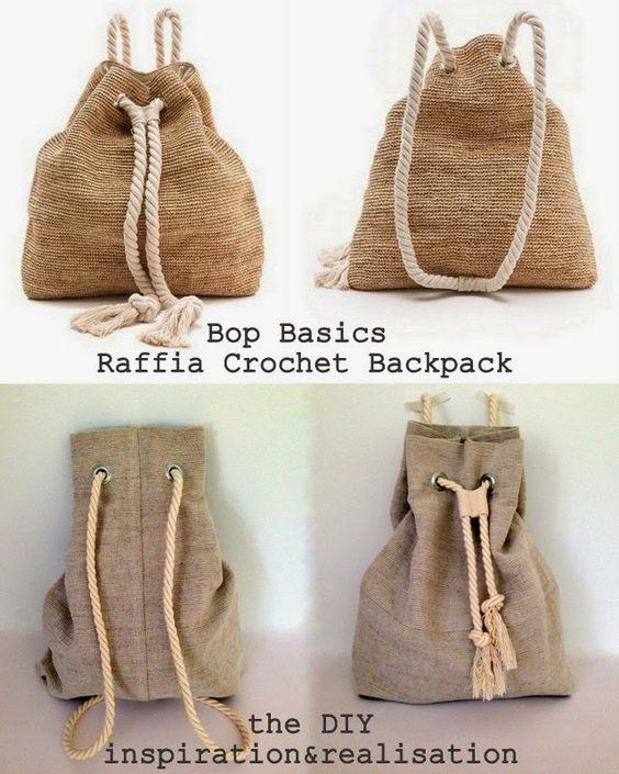DIY: slouchy backpack ✿⊱╮Teresa Restegui http://www.pinterest.com/teretegui/✿⊱╮