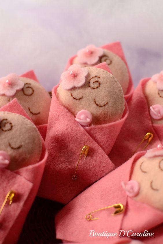 Lembrancinhas de nascimento de Feltro - Dicas pra Mamãe