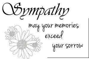 free sympathy sentiment