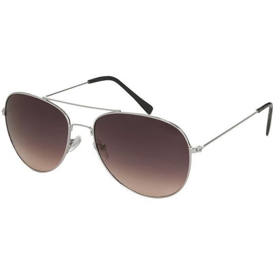 TOPSHOP Alice Aviator Sunglasses (€14) ❤ liked on Polyvore