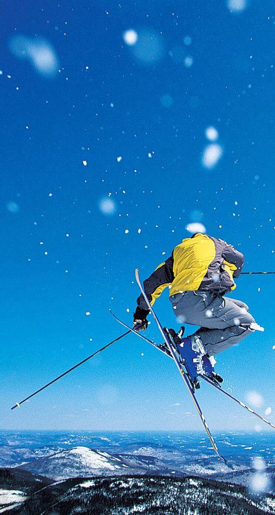 Incredible view #skiing #powder