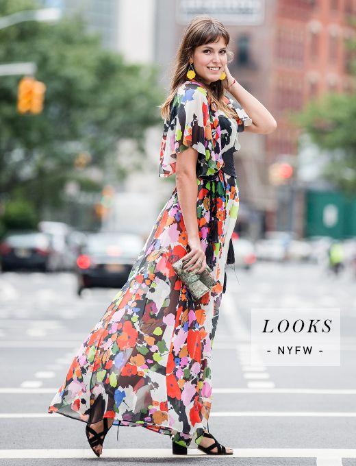 Look Bia Perotti - NYFW: vestido Apartamento 03, sandálias Arezzo, clutch Isla, brincos Isabella Blanco: