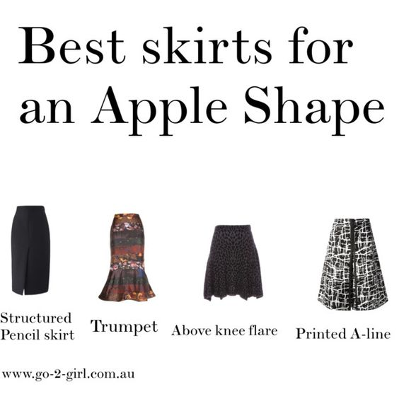 """Best skirts for an Apple Shape"" by go-2-girl on Polyvore"