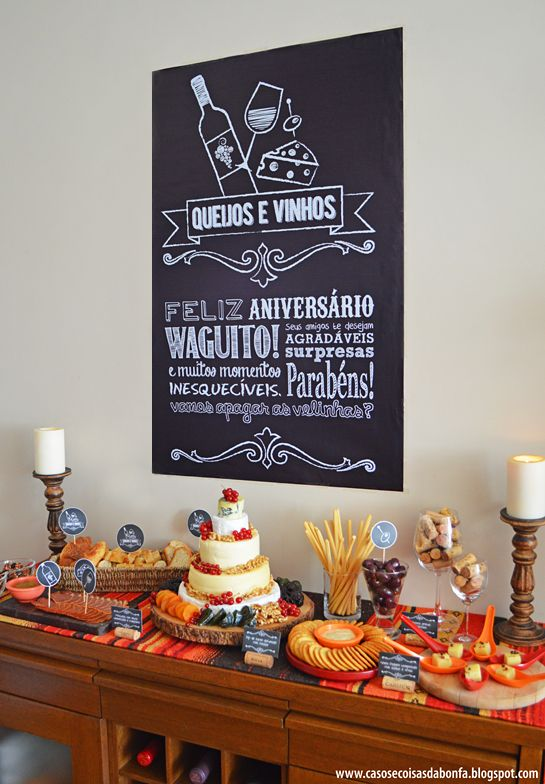 para degustação de queijos e vinhos ( clique e veja muito mais fotos):