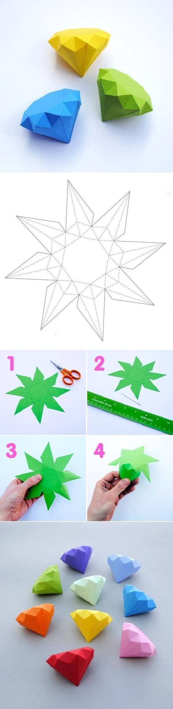 Paper Diamonds colorido: