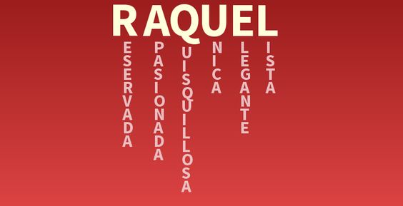 Significado del nombre: Raquel - Descubre el significado de tu nombre