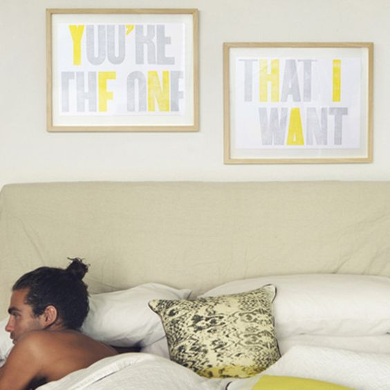 YOU'RE THE ONE THAT I WANT FRAMED PRINT SET
