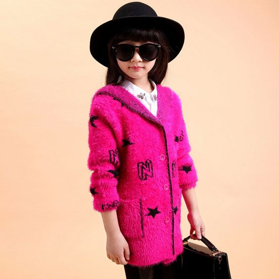 (Buy here: http://appdeal.ru/2unx ) Childrens Spring Fake Fur Character Coat 2-12years Sweet Girl Child Hooded Pattern Print Coat Fashion Wool Cotton Girl Coat for just US $41.00
