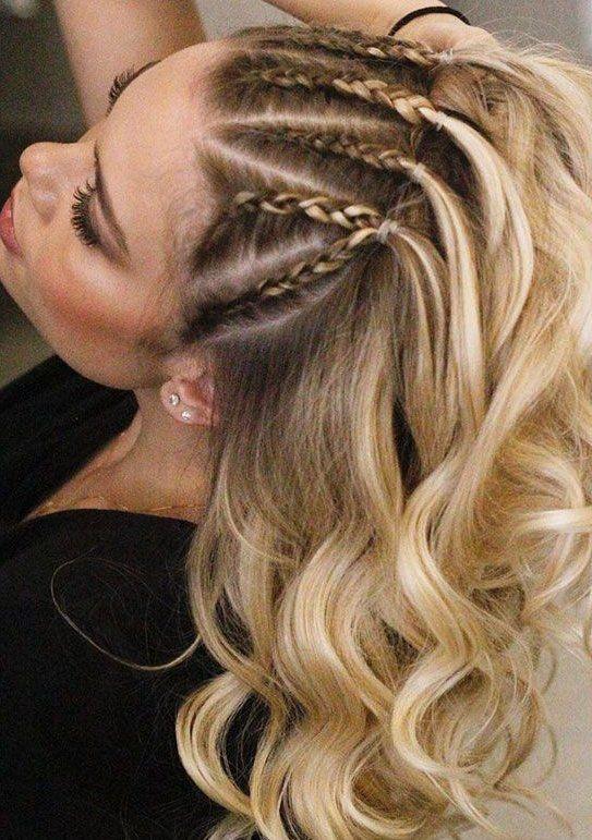 22 Cute Braid Hairstyles Braids Hair Down Braided Ponytail Half Up Hairstyle Cutehairstyles In 2020 Braids With Curls Braided Hairstyles Box Braids Hairstyles