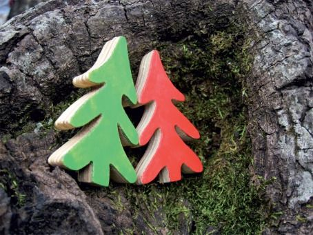 Red and Green Christmas Tree | @FairMail - Fair Trade Cards - Cards - CS402-E