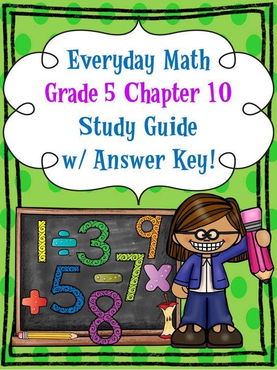 math worksheet : everyday math grade 5 ch 10 study guide w answer key  md  : Everyday Math Worksheets