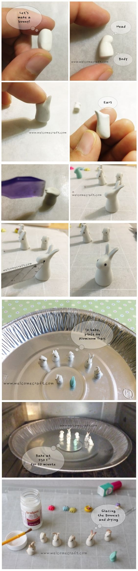 Clay Easter Bunny Instruction