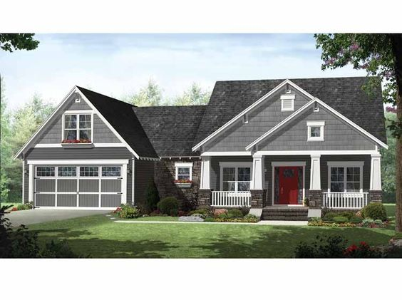 Eplans craftsman house plan open layout with flex space for Www eplans com