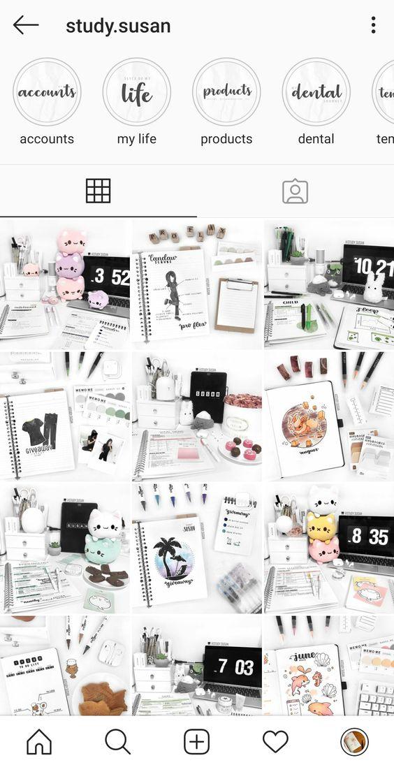 20 comptes Instagram à suivre pour votre Bullet Journal : @study.susan