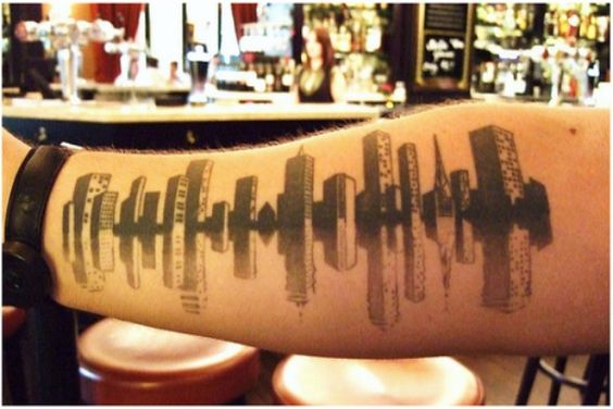 Skyline tattoo tatoo pinterest cart cleveland et for Cleveland skyline tattoo