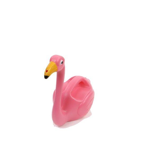 Leuke roze flamingogieter met 20 roze tulpen en eigen label.