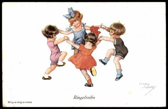 Künstler Ansichtskarte / Postkarte Spark, Chicky, Kinder spielen Ringelreihe | akpool.de: