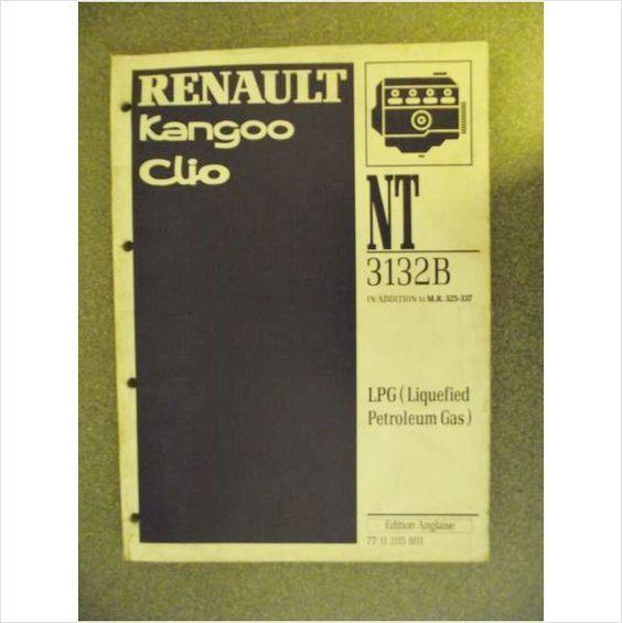 Renault Kangoo Clio LPG Liquified Petroleum Gas Manual 1998 NT3132B 7711205801