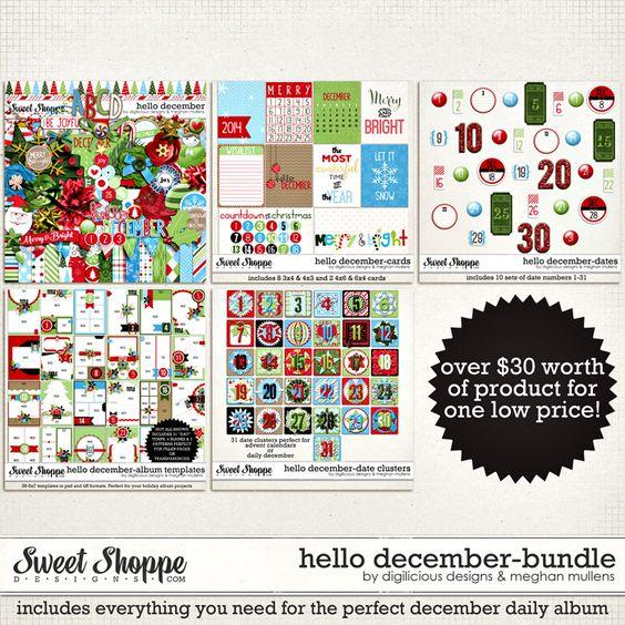 Hello December Bundle  by Digilicious Design & Meghan Mullens