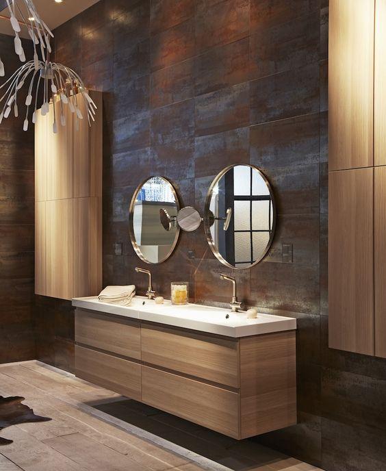 Meuble de salle de bain suspendu Ikea Gormorgon Odensvik - laminat für badezimmer