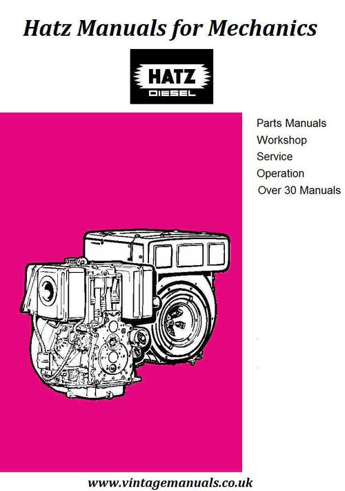 Hatz 2m41 3m41 4m41 Parts Manual In 2021 Diesel Manual Memory Stick
