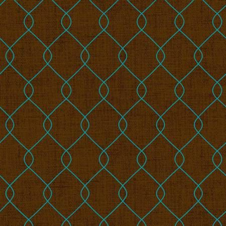Teal Diamond Design on Brown Cotton Quilt Fabric by the Yard, Home for Harvest 6385-33, Material by the Yard, Fabric for Sale, Aqua by fabric406 on Etsy