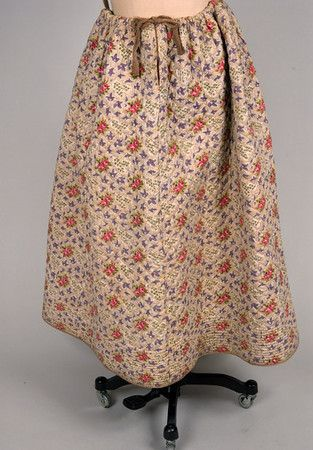 Printed & Quilted Petticoat, France, 1830-1860: