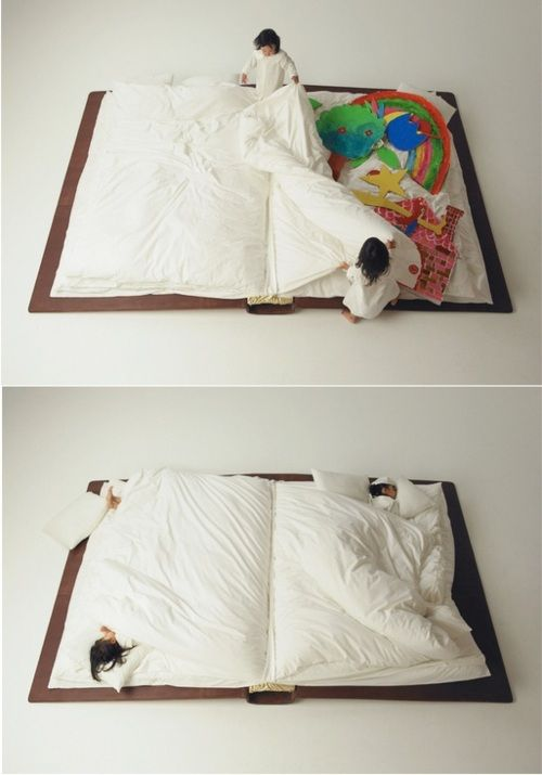 "New meaning to ""going to bed with a good book"""