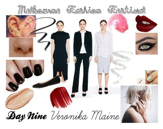 """""""Melbourne Fashion Festival: Day Nine - Veronika Maine"""" by beccaconnor ❤ liked on Polyvore featuring mode, Charlotte Russe, Charlotte Tilbury, Nails Inc., Cynthia Rowley, Maybelline, Urban Decay et NARS Cosmetics"""