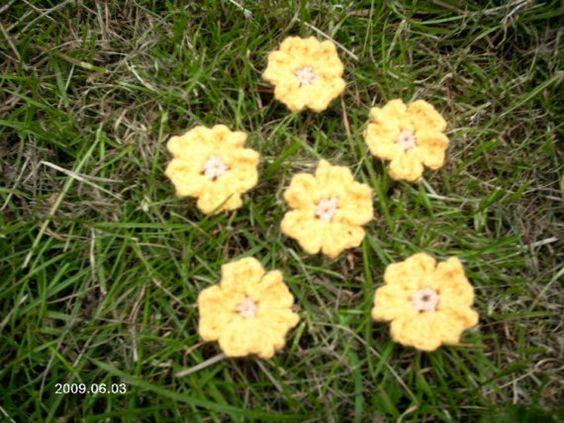 Crochet Pattern For Flower Fairy Primrose Hat : Crochet Pattern Primrose Flower Applique by ...