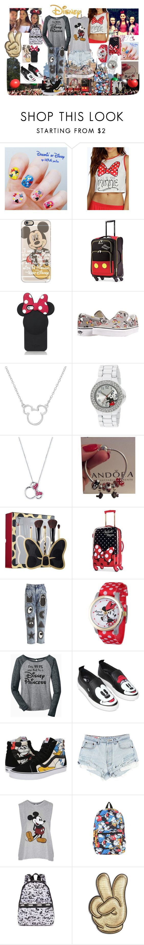 """""""vans"""" by ilenia-aretusi ❤ liked on Polyvore featuring Disney, Casetify, Kate Spade, Vans, Pandora, Sephora Collection, Mini Cream, MOA Master of Arts, Topshop and LeSportsac"""