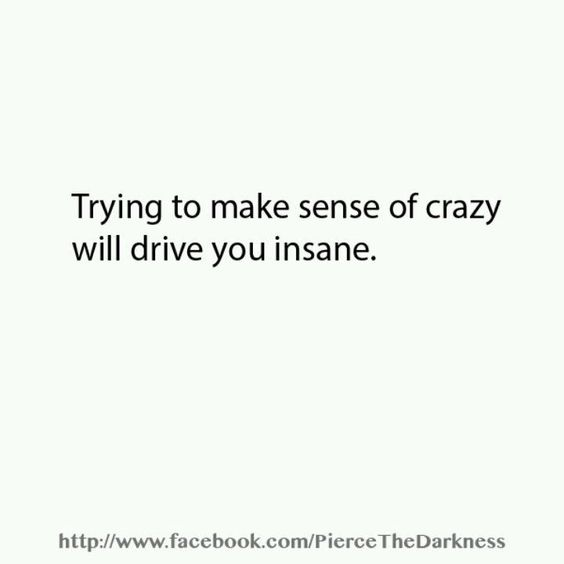 That's what they want. Remember to be logical and realize you can't rationalize the behaviors and lies of an irrational person.