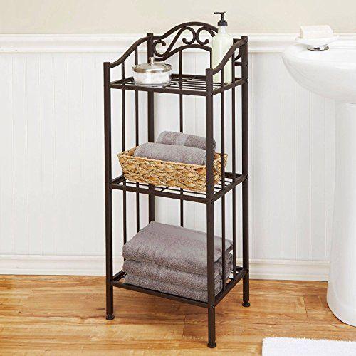 Moon Daughter Free Standing Chapter Metal Bathroom Floor Shelf Oil Rubbed Bronze Decorative Bathroom Ideias Para Mobilia Armario Banheiro Decoracao De Ferro