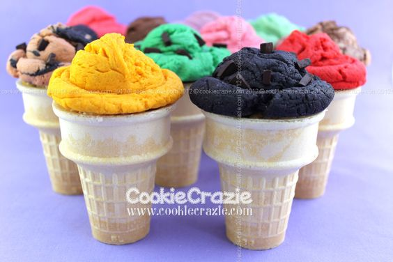 CookieCrazie: Scoops of Ice Cream Cookie (Tutorial)