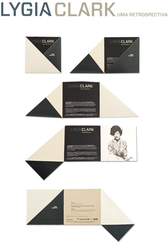 Lygia Clark, identity for exhibition by Jader Rosa www.jaderrosa.com