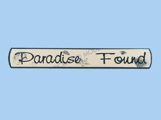 "Wooden Paradise Found Nautical Plaque 18"""