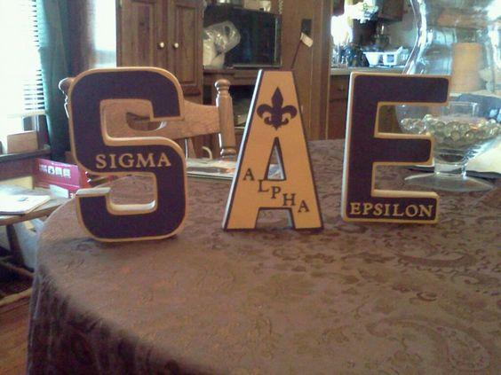 Sigma Alpha Epsilon Letters! <3