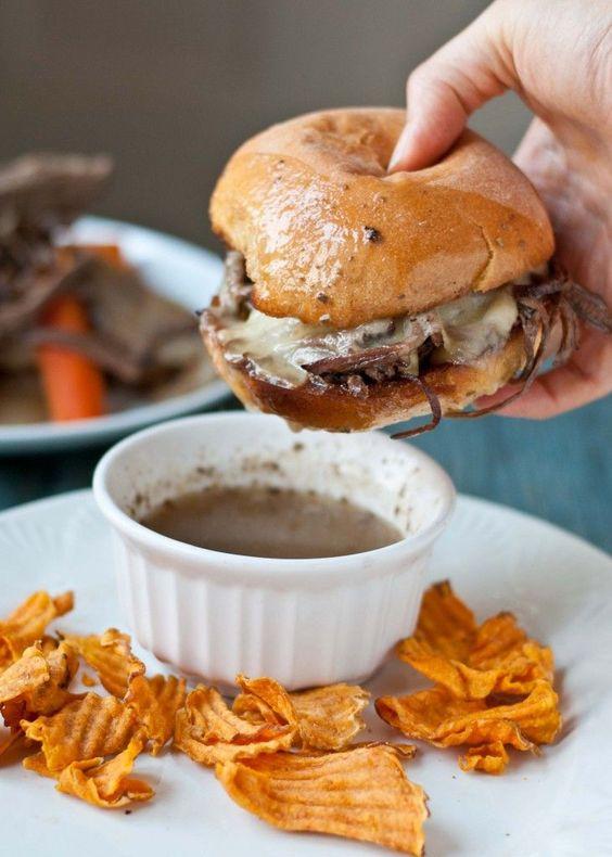 Slow Cooker Beef Brisket French Dip Sandwiches #SundaySupper | Recipe ...