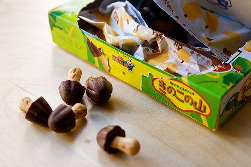 Japan - chocolate mushroom candy