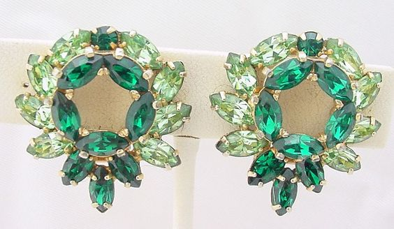 Kramer emerald green rhinestones
