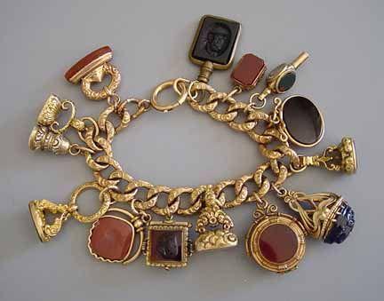 1850-1890 Victorian watch fob bracelet: