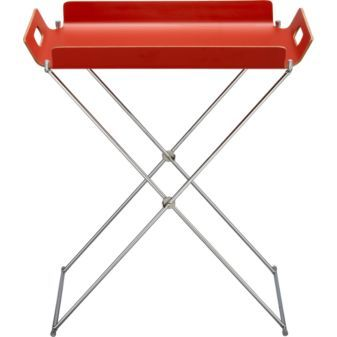you often need a collapsible little serving tray for drinks, magazines, etc. outside