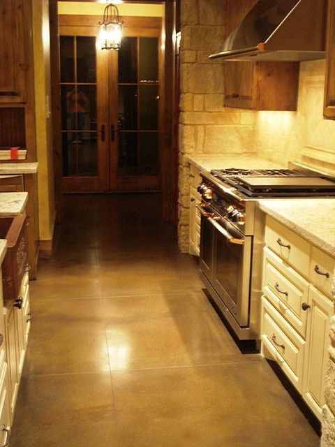 Stained Concrete Kitchens And Bathrooms And Concrete