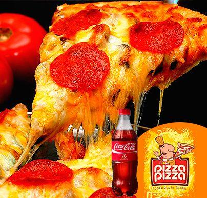 Deléitate creando tu propia pizza! Arma tu Pizza Pizza + Cola Familiar + 2 porciones de Pan de Ajo y Salsa de la Casa