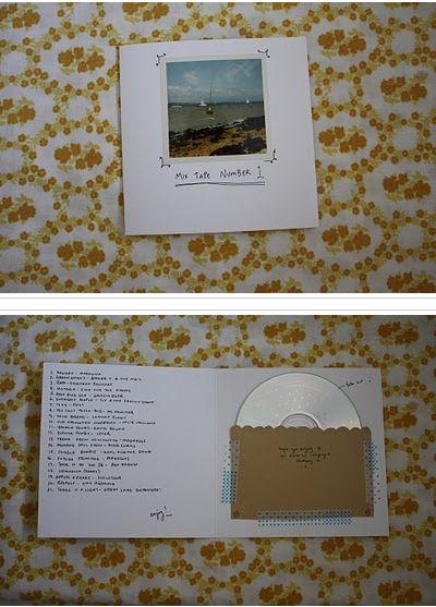 sweet DIY CD holder (source unknown, please let me know if you know otherwise and I will credit)