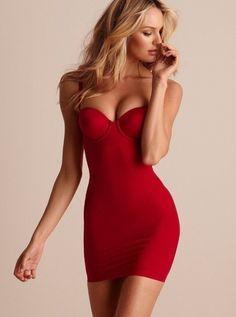 Red bandage dress tumblr color