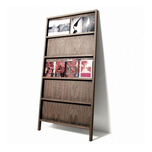 marcel wanders for moooi | oblique solid oak magazine rack