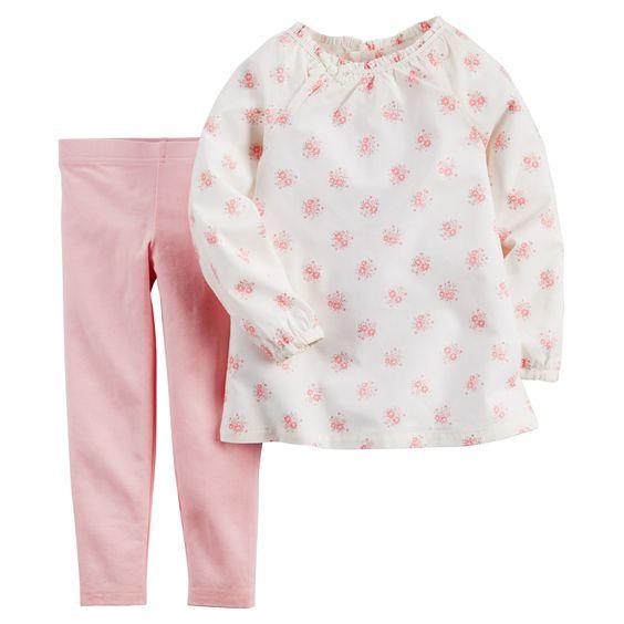Toddler Girl 2-Piece Top & Legging Set | Carters.com