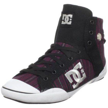 DC Women`s Chelsea Z HSE Skate Shoe,Black/Silver